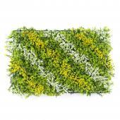 """Mixed Artificial Grass Mat 24"""" - 12 Panels - Yellow"""