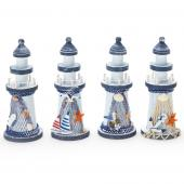 Decostar™ Wooden Lighthouse 4 Assorted Styles - 36 Sets