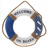 Decostar™ Decorative Wooden Life Preserver - 8 Pieces