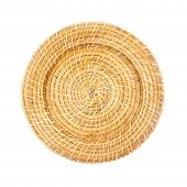 "Decorative Rattan Charger Plate - 13"" - 8 Pieces"