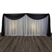 Economy 2 Panel Valance Backdrop 8ft Tall or 8ft-10ft Tall
