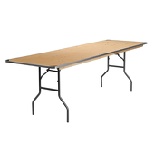 8FT 30X96 Long Plywood Table