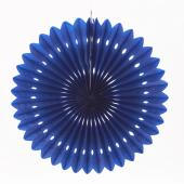"Decostar™ Hanging Paper Fans- Royal Blue - 16"" - 36 Pieces"