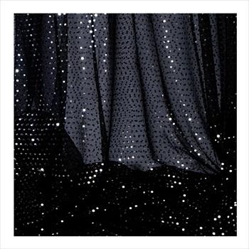 Decostar Black Economy Sequin Knit Fabric 10yds X 44 Wide
