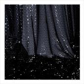 "Decostar™ Black Ecconomy Sequin Knit Fabric - 10yds x 44"" wide"
