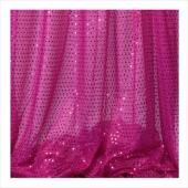 Decostar™ Fuchsia Ecconomy Sequin Knit Fabric - 10yds x 44