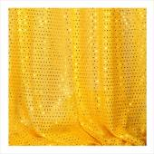 "Decostar™ Gold Ecconomy Sequin Knit Fabric - 10yds x 44"" wide"