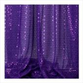 "Decostar™ Purple Ecconomy Sequin Knit Fabric - 10yds x 44"" wide"