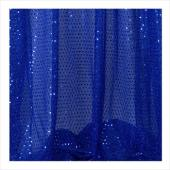 "Decostar™ Royal Blue Ecconomy Sequin Knit Fabric - 10yds x 44"" wide"