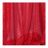 "Decostar™ Red Ecconomy Sequin Knit Fabric - 10yds x 44"" wide"