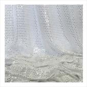 "Decostar™ Silver Ecconomy Sequin Knit Fabric - 10yds x 44"" wide"