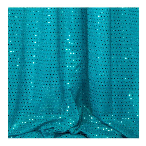 Decostar Turquoise Ecconomy Sequin Knit Fabric 10yds X 44 Wide