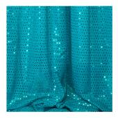 Decostar™ Turquoise Ecconomy Sequin Knit Fabric - 10yds x 44