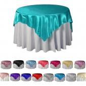 "Bulk Economy Satin Overlay - 72"" X 72"" - 12 Pieces - Many Colors!"