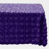 "Decostar™ Rectangle Satin Rosette Table Cover 90"" x 132"" - Purple"