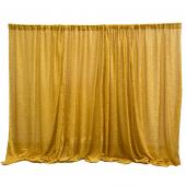 Gold Metallic Sparkle Spandex Backdrop Curtain - 20ft x 10ft