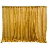 Gold Metallic Sparkle Spandex Backdrop Curtain - 20ft x 10ft