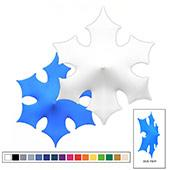3D Spandex Stretch Super Snowflake - A - Variety of Sizes and Colors!