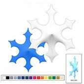 3D Spandex Stretch Super Snowflake - B - Variety of Sizes and Colors!