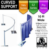 Curved Drape Support (3-Piece Set)