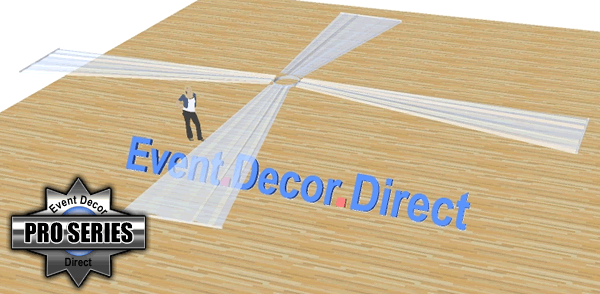 4-Panel 21ft Ceiling Draping Kit