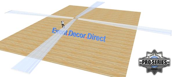 4-Panel 40ft Ceiling Draping Kit