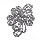 Decostar™ Rhinestone Brooch 65MM - 12 Pieces - Silver