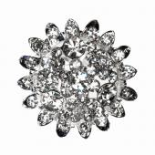 Decostar™ Rhinestone Brooch Round - 12 Pieces