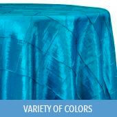 4 Inch Pintuck Taffeta - Premium Polyester Tablecloth