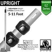 EZ Series - 3-Piece Adjustable Upright w/Slip-Lock (5ft-11ft)