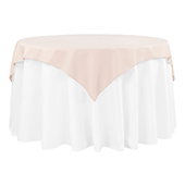 "54"" Square 200 GSM Polyester Tablecloth / Overlay - Blush/Rose Gold"