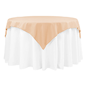 "54"" Square 200 GSM Polyester Tablecloth / Overlay - Champagne"