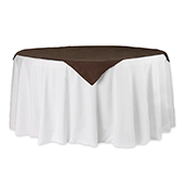 "54"" Square 200 GSM Polyester Tablecloth / Overlay - Chocolate Brown"