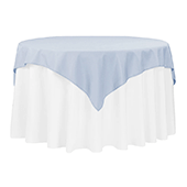 "54"" Square 200 GSM Polyester Tablecloth / Overlay - Dusty Blue"
