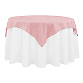 "54"" Square 200 GSM Polyester Tablecloth / Overlay - Dusty Rose/Mauve"