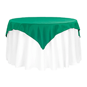 "54"" Square 200 GSM Polyester Tablecloth / Overlay - Emerald Green"