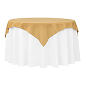 "54"" Square 200 GSM Polyester Tablecloth / Overlay - Gold"