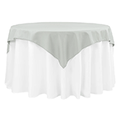 "54"" Square 200 GSM Polyester Tablecloth / Overlay - Gray/Silver"