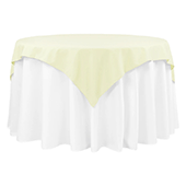 "54"" Square 200 GSM Polyester Tablecloth / Overlay - Ivory"
