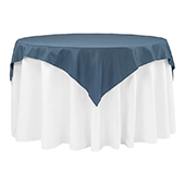 "54"" Square 200 GSM Polyester Tablecloth / Overlay - Navy Blue"