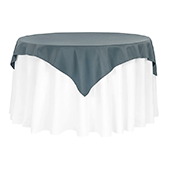 "54"" Square 200 GSM Polyester Tablecloth / Overlay - Pewter"