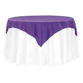 "54"" Square 200 GSM Polyester Tablecloth / Overlay - Purple"