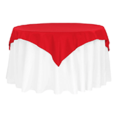 "54"" Square 200 GSM Polyester Tablecloth / Overlay - Red"