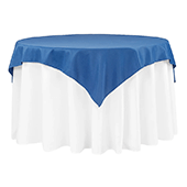 "54"" Square 200 GSM Polyester Tablecloth / Overlay - Royal Blue"