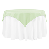 "54"" Square 200 GSM Polyester Tablecloth / Overlay - Sage Green"