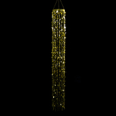 DecoStar™ 5ft Long Champagne Bubbles Chandelier - Gold