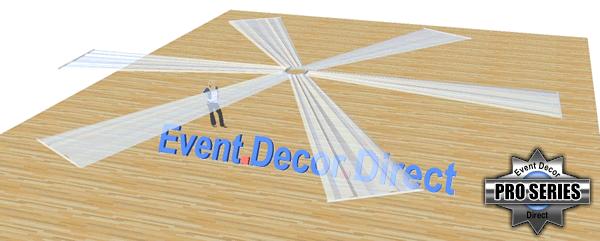 6-Panel 21ft Ceiling Draping Kit