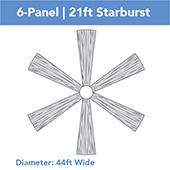 6-Panel 21ft Starburst Ceiling Draping Kit (44 Feet Wide)