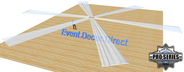 6-Panel 30ft Ceiling Draping Kit