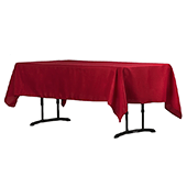 "60"" x 102"" Rectangular 200 GSM Polyester Tablecloth - Apple Red"